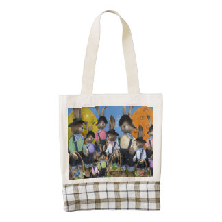 Easter Bunny Display Zazzle HEART Tote Bag