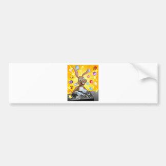 Easter Bunny DJ Bumper Sticker