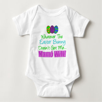 Easter Bunny Doesn't Mamo Will Baby Bodysuit