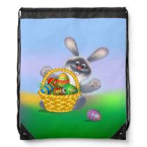 Easter Bunny Drawstring Backpack