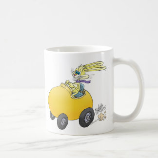 Easter bunny driving an Easter egg!.jpg Coffee Mug