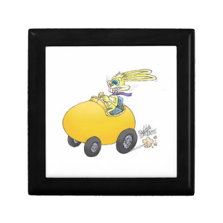 Easter bunny driving an Easter egg!.jpg Jewelry Box