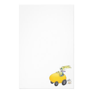 Easter bunny driving an Easter egg!.jpg Stationery