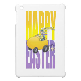 Easter bunny driving an egg. iPad mini cases