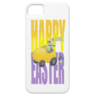 Easter bunny driving an egg. iPhone SE/5/5s case