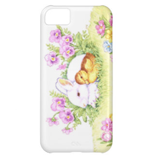 Easter Bunny, Duckling and Flowers iPhone 5C Case