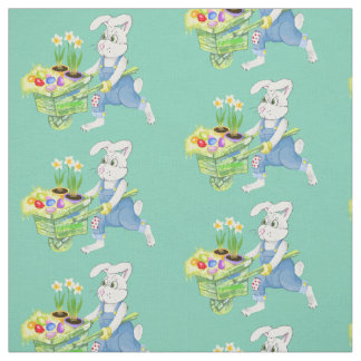 Easter bunny dyed eggs fabric