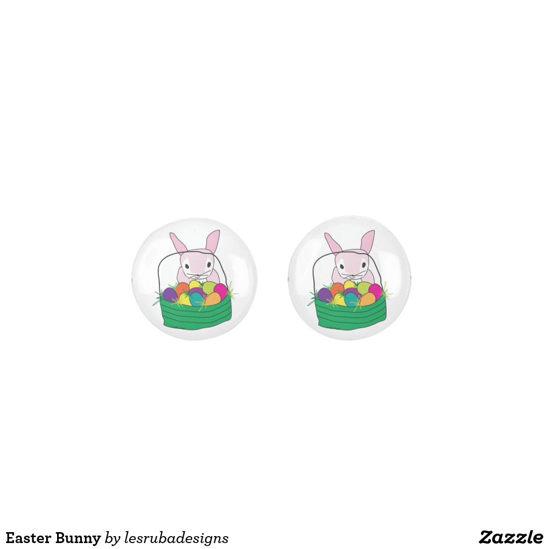 Easter Bunny button earrings