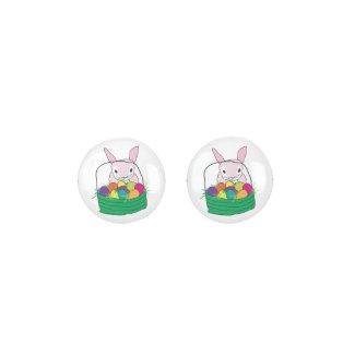 Easter Bunny button earrings