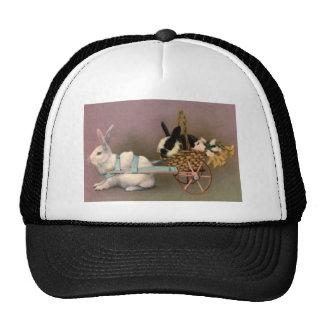 Easter Bunny Easter Basket Flowers Floral Cart Trucker Hat