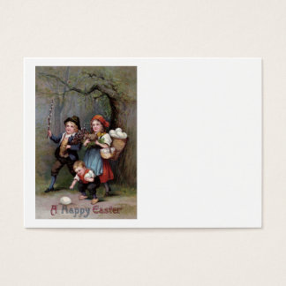 Easter Bunny Easter Egg Hunt Forest Business Card