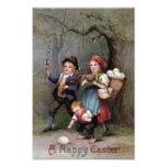 Easter Bunny Easter Egg Hunt Forest Photo Print