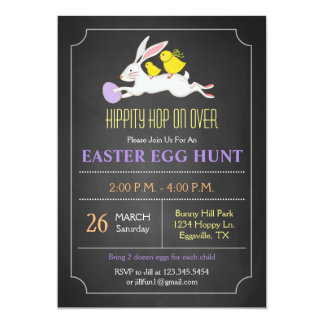 Easter Bunny Easter Egg Hunt Invitation