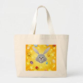 Easter bunny egg and star background bag