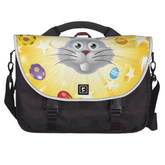 Easter bunny egg and star background computer bag