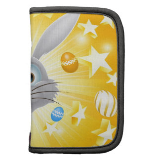 Easter bunny egg and star background organizers