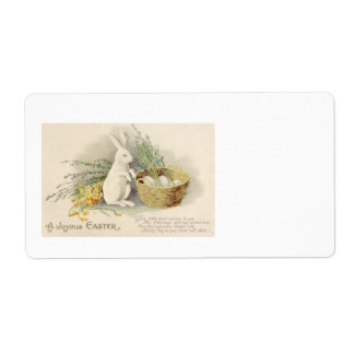 Easter Bunny Egg Basket Daffodil Jonquil Label