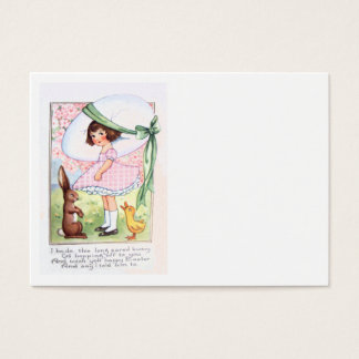 Easter Bunny Egg Duck Flower Girl Business Card