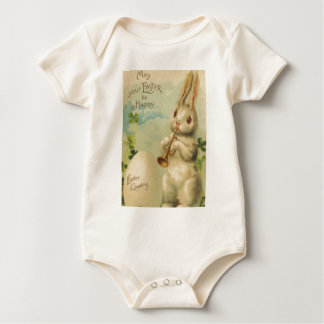 Easter Bunny Egg Four Leaf Clover Trumpet Baby Creeper