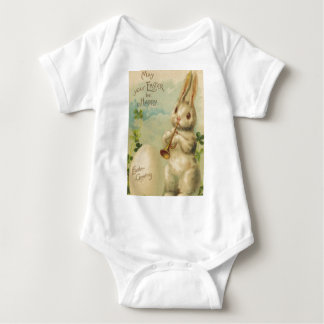 Easter Bunny Egg Four Leaf Clover Trumpet Tshirts