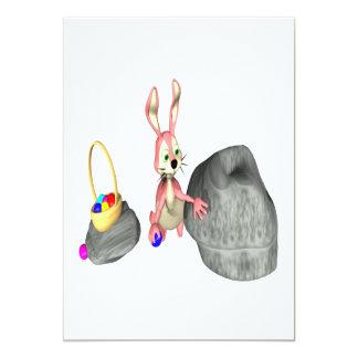Easter Bunny Egg Hiding Card