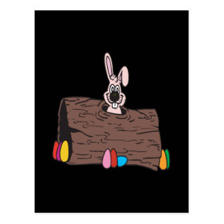 Easter Bunny Egg Hiding Postcard