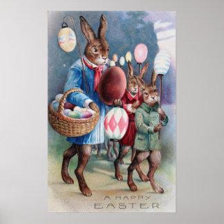 Easter Bunny Egg Lantern Parade Poster