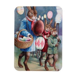 Easter Bunny Egg Lantern Parade Rectangular Photo Magnet