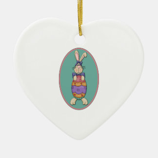 Easter Bunny Egg Oval Christmas Tree Ornament