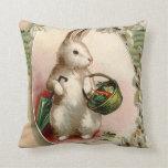 Easter Bunny Egg Umbrella Lily Basket Carrot Pillow