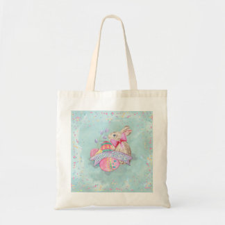 Easter Bunny, Eggs and Confetti ID377 Tote Bag
