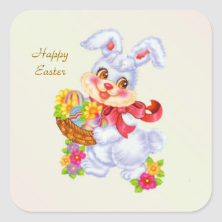 Easter Bunny, eggs and flowers Sticker