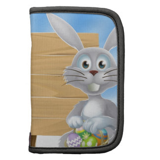 Easter bunny eggs and wooden sign planners