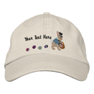 Easter Bunny & Eggs Embroidered Baseball Hat