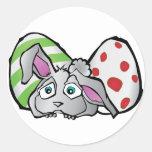 Easter Bunny & Eggs Sticker