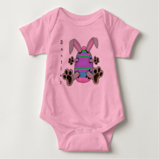 Easter Bunny Escapes from Colorful Easter Egg Baby Bodysuit