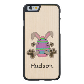 Easter Bunny Escapes from Colorful Easter Egg Carved® Maple iPhone 6 Case