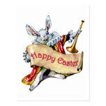 EASTER BUNNY EXTENDS HAPPY EASTER GREETINGS POST CARDS