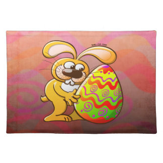 Easter Bunny Falling in Love Place Mat
