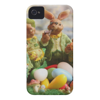 Easter bunny family iPhone 4 cover
