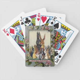 Easter Bunny Family Portrait Bicycle Playing Cards