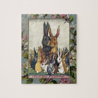Easter Bunny Family Portrait Jigsaw Puzzle