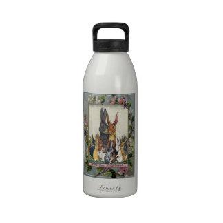 Easter Bunny Family Portrait Water Bottles