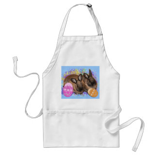 Easter Bunny Fantasy - Happy Easter! Adult Apron