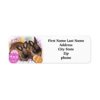 Easter Bunny Fantasy - Happy Easter! Labels