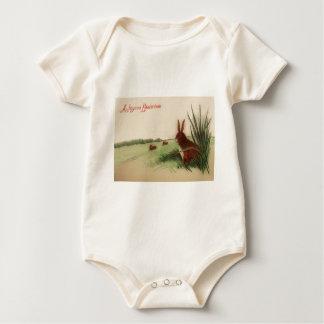 Easter Bunny Field Grass Baby Bodysuit