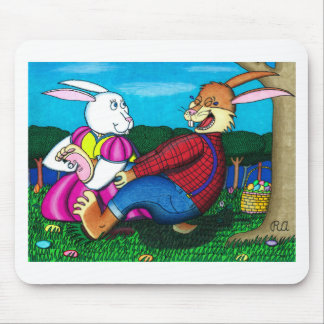 Easter Bunny Foot Tickle Mouse Pad