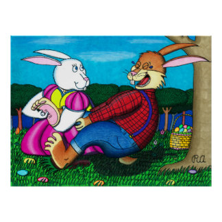 Easter Bunny Foot Tickle Print