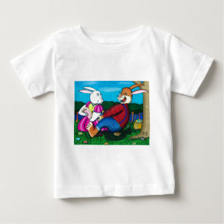 Easter Bunny Foot Tickle T-shirt