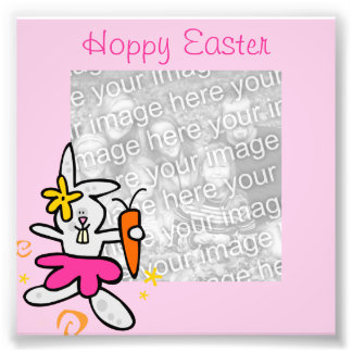 Easter Bunny Frame Photo Photo Art